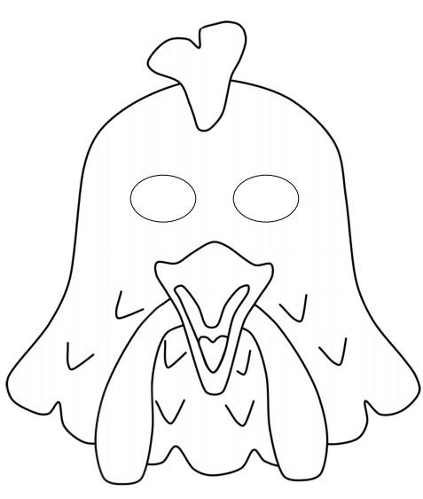 Kağıttan horoz maskesi