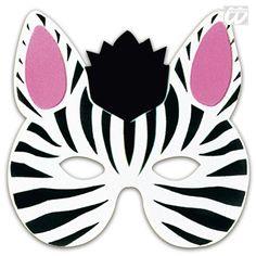 swinger segeln zebra maske zum ausdrucken