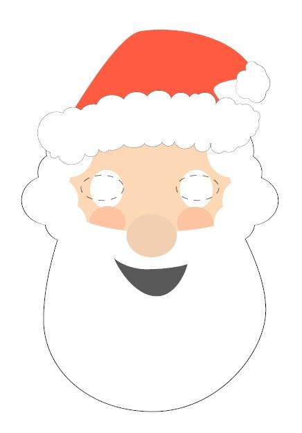 Kagit Noel Baba Maskesi
