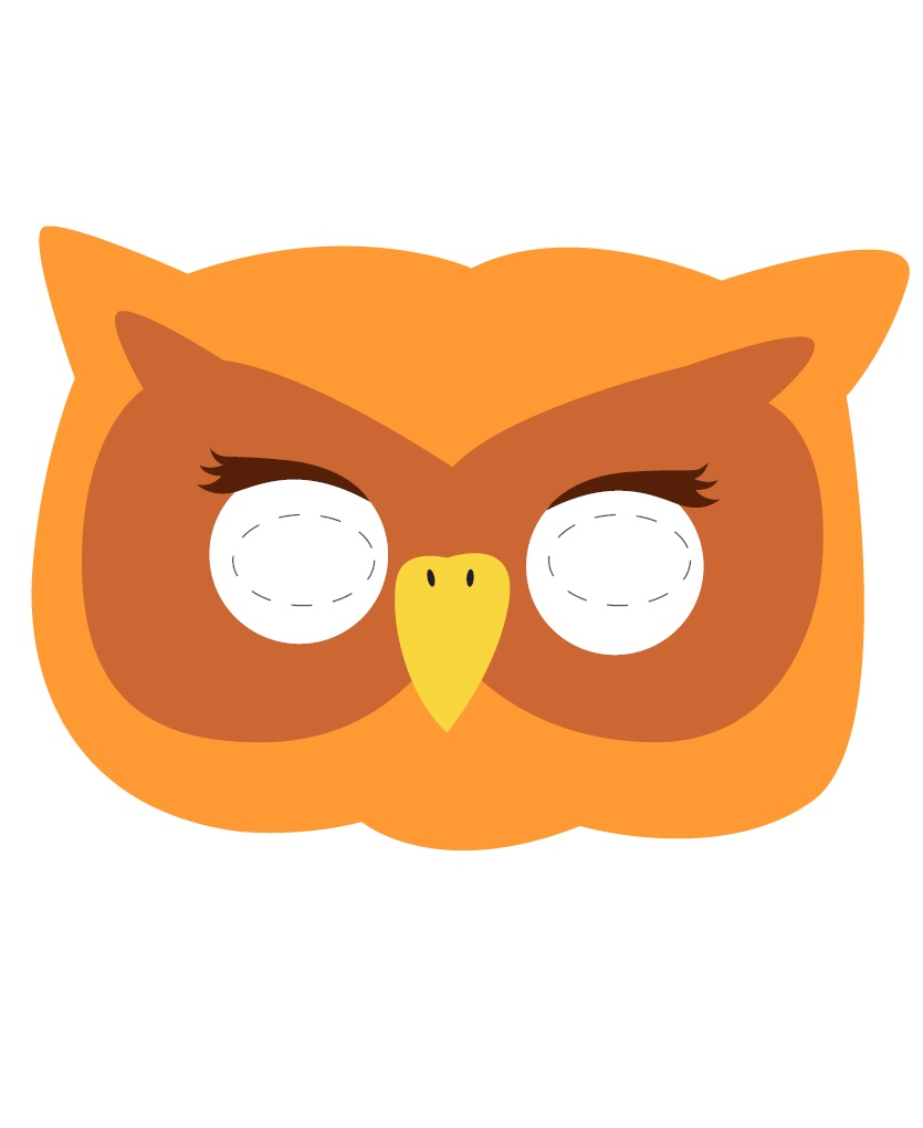 Kagit Baykus Maskesi