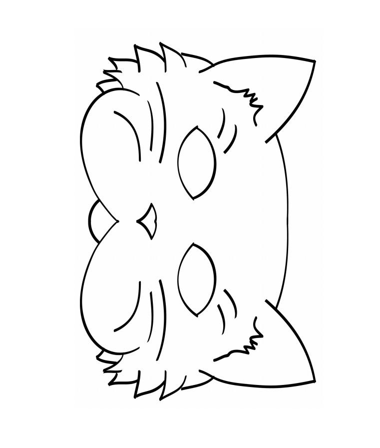 Kagit Kedi Maskesi