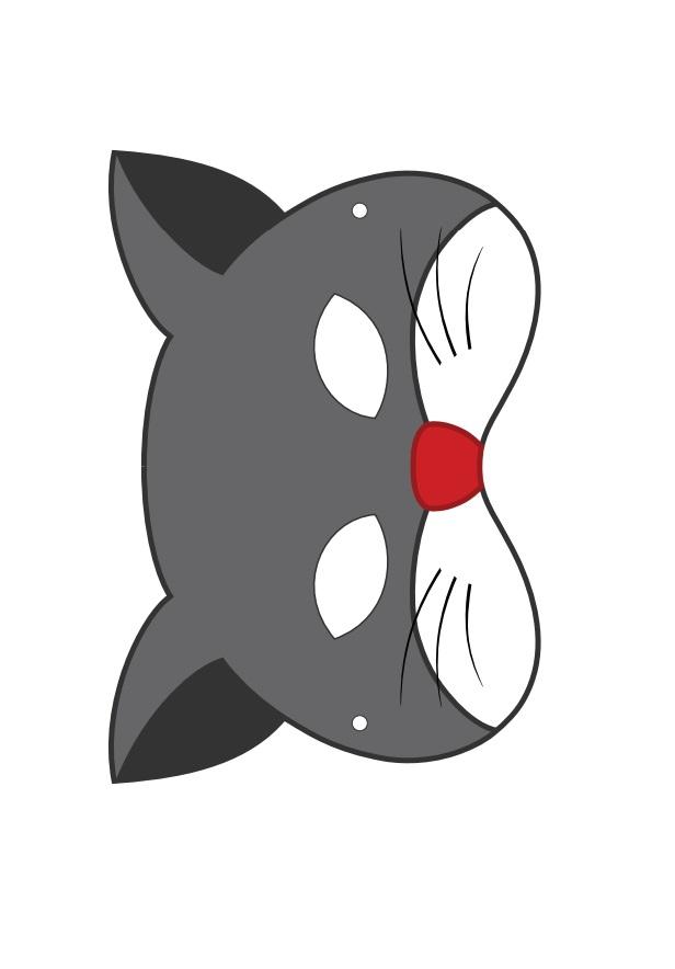 Kagittan Kedi Maskesi