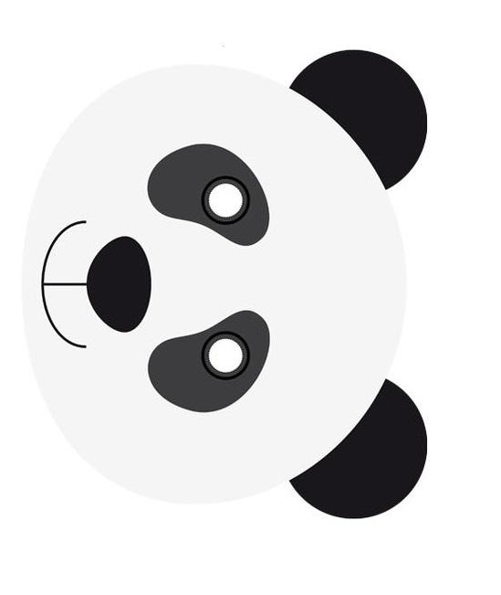 Kagit Panda Maskesi