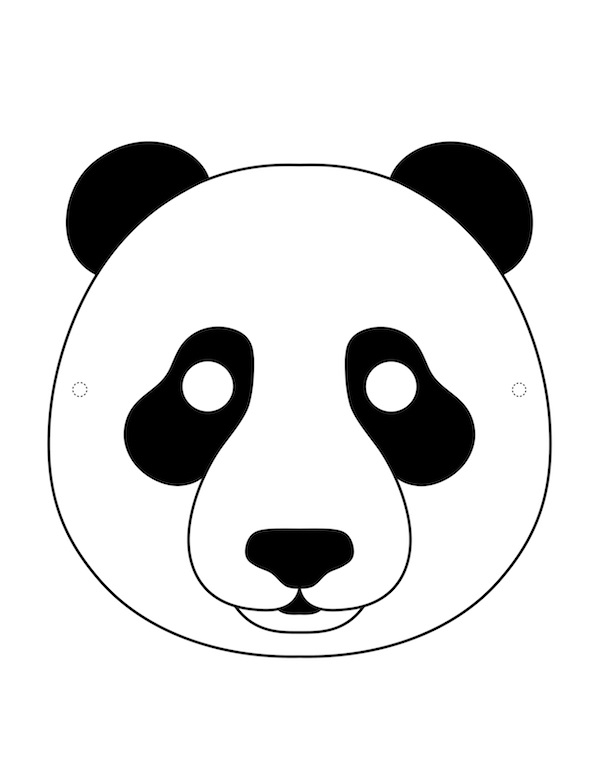 Kagittan Panda Maskesi