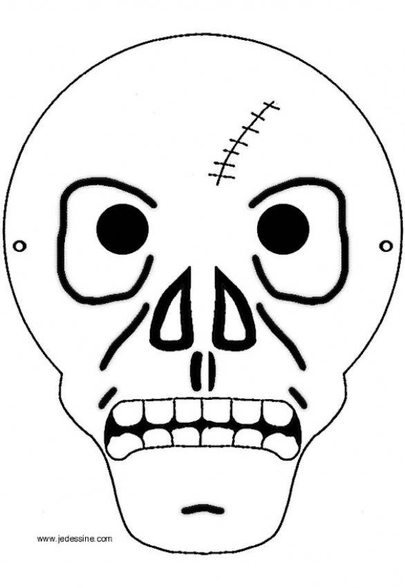 Kağıt Iskelet Maskesi