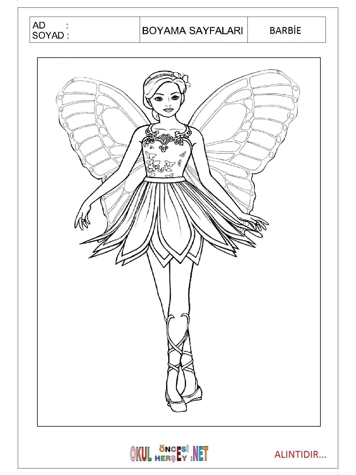 Barbie Boyama Sayfalari Indir Coloring Free To Print