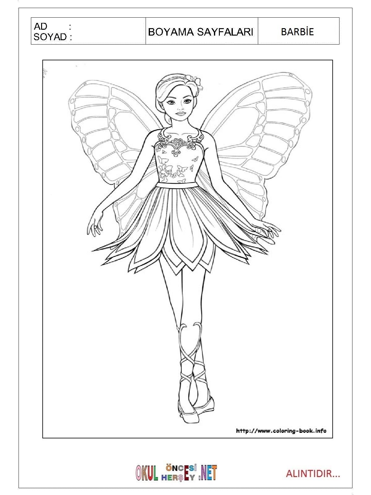 Barbie Boyama Sayfaları