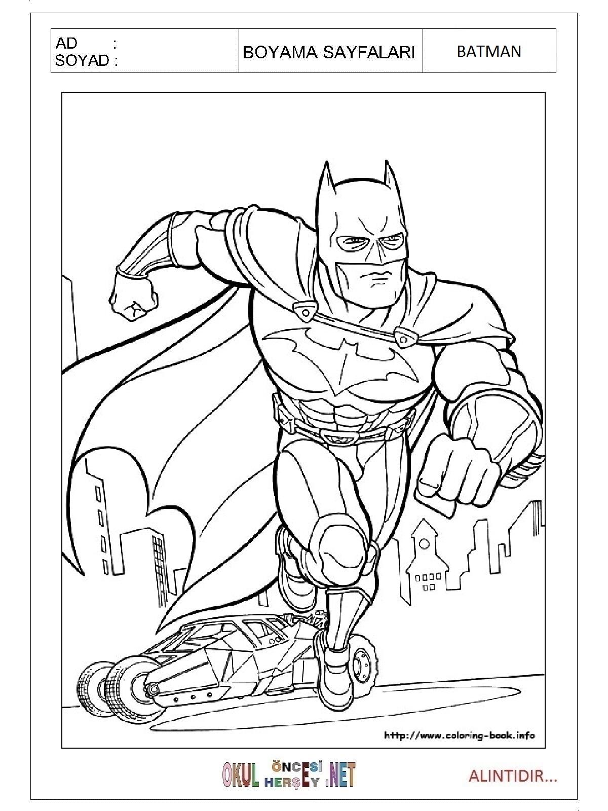 Batman Boyama Sayfalari