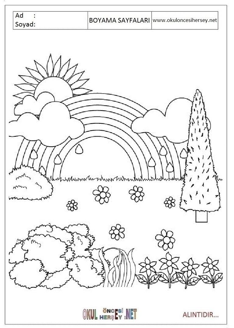 En güzel boyama sayfaları okul öncesi