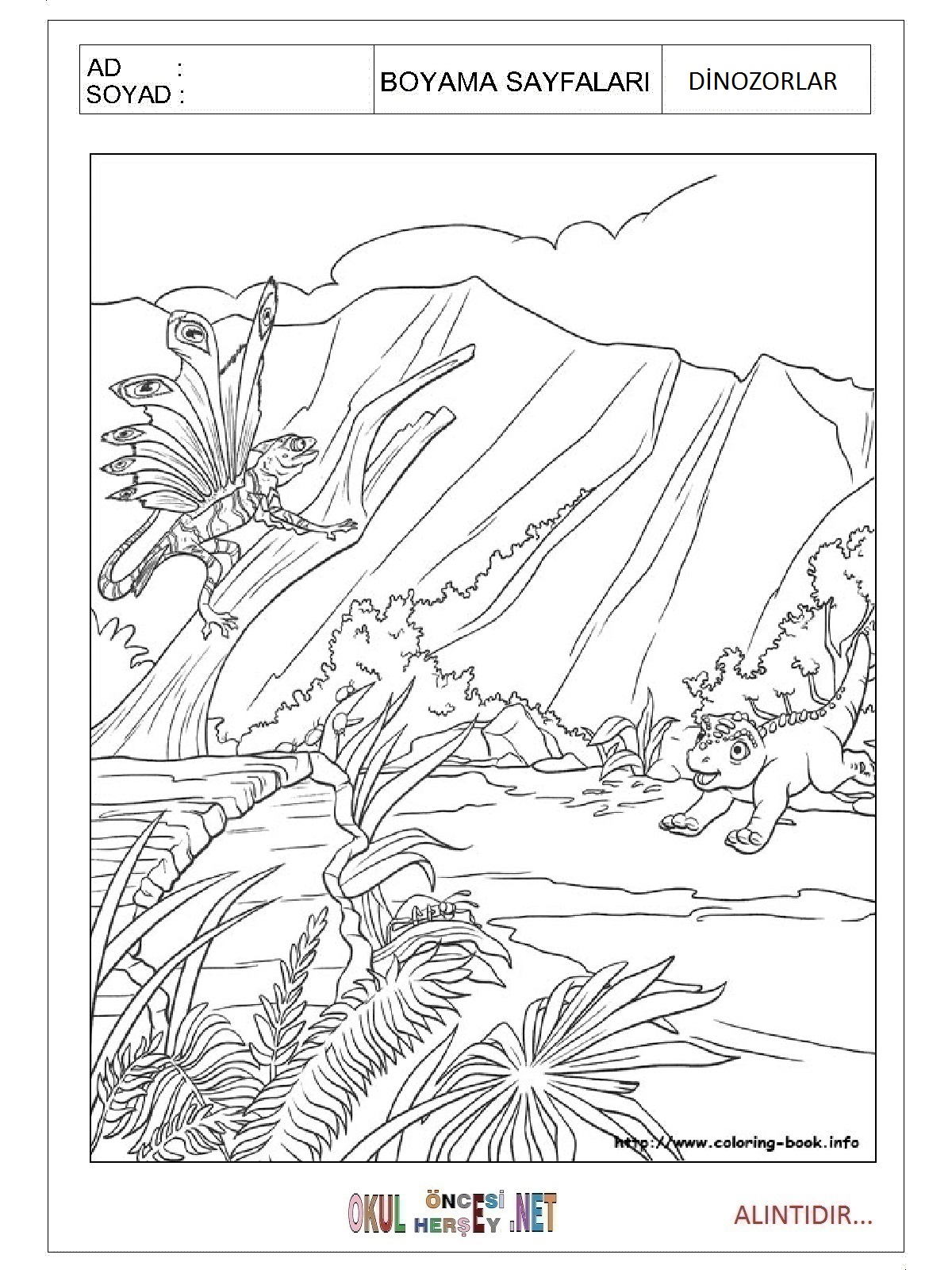 Boyama sayfası dinozorlar boyama sayfası dinozorlar boyama