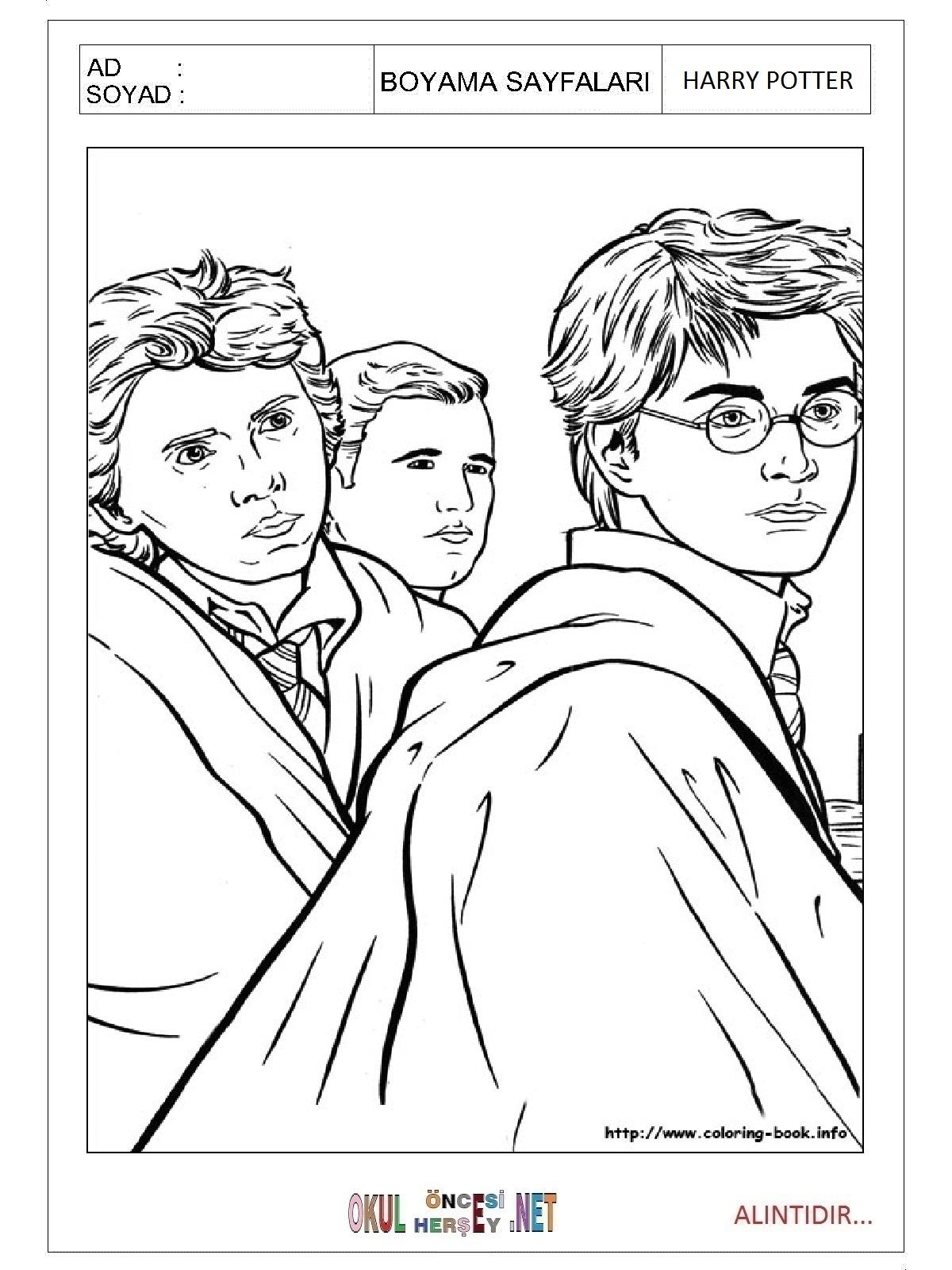 Harry Potter Boyama Sayfalari