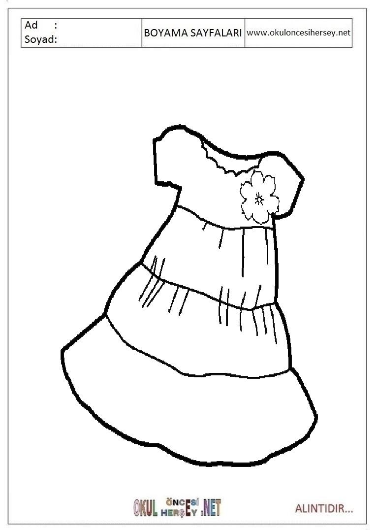 Bebek Kiyafeti Tulum Boyama Sayfalari