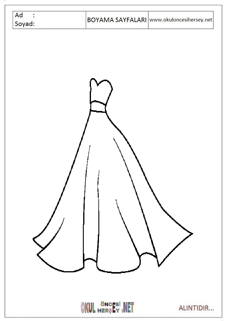 Cocuklar Icin Takim Elbise Ceket Kiyafet Giysi Boyama Sayfasi 1