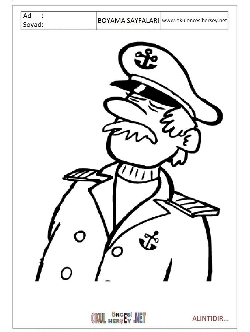 Kaptan Boyama Sayfaları