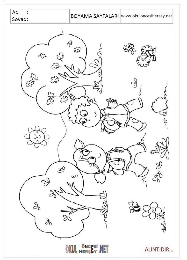Ilkbahar Boyama Sayfaları