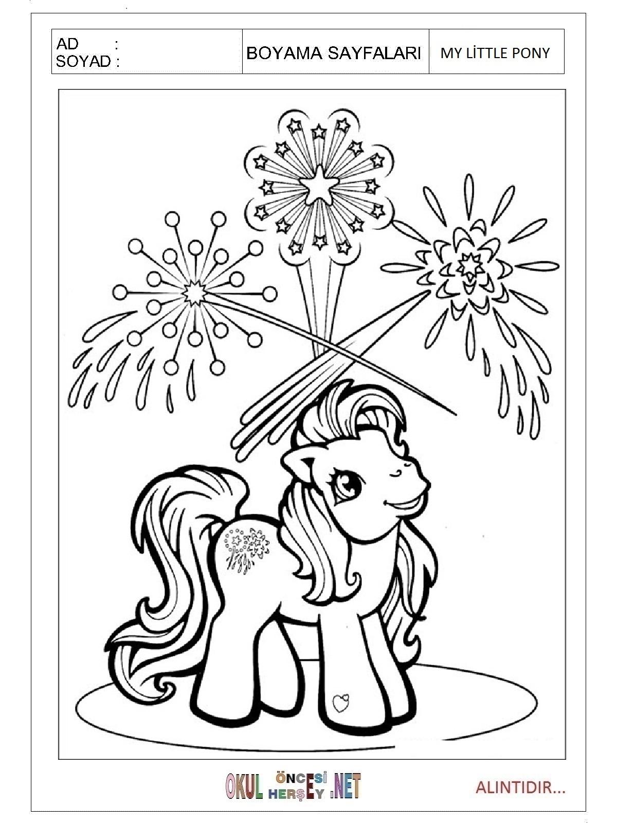 My Little Pony Boyama Sayfalari