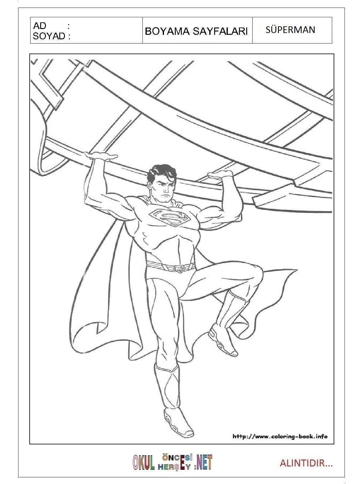 Superman Boyama Sayfalari