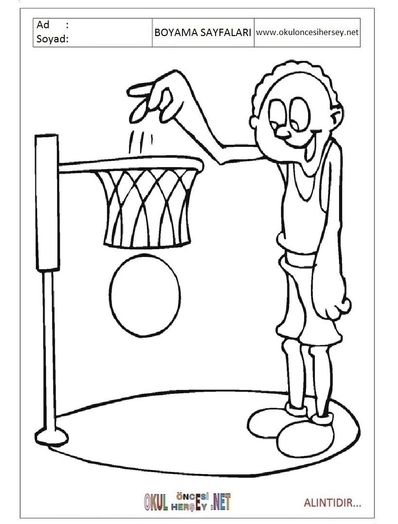 Basketbol Boyama Sayfalari