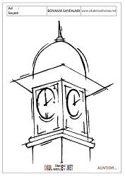 Saat Kulesi Boyama Sayfalari