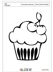 Cupcake Boyama Sayfalari