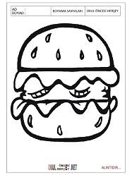 Hamburger Boyama Sayfalari