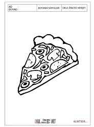 Pizza Boyama Sayfalari