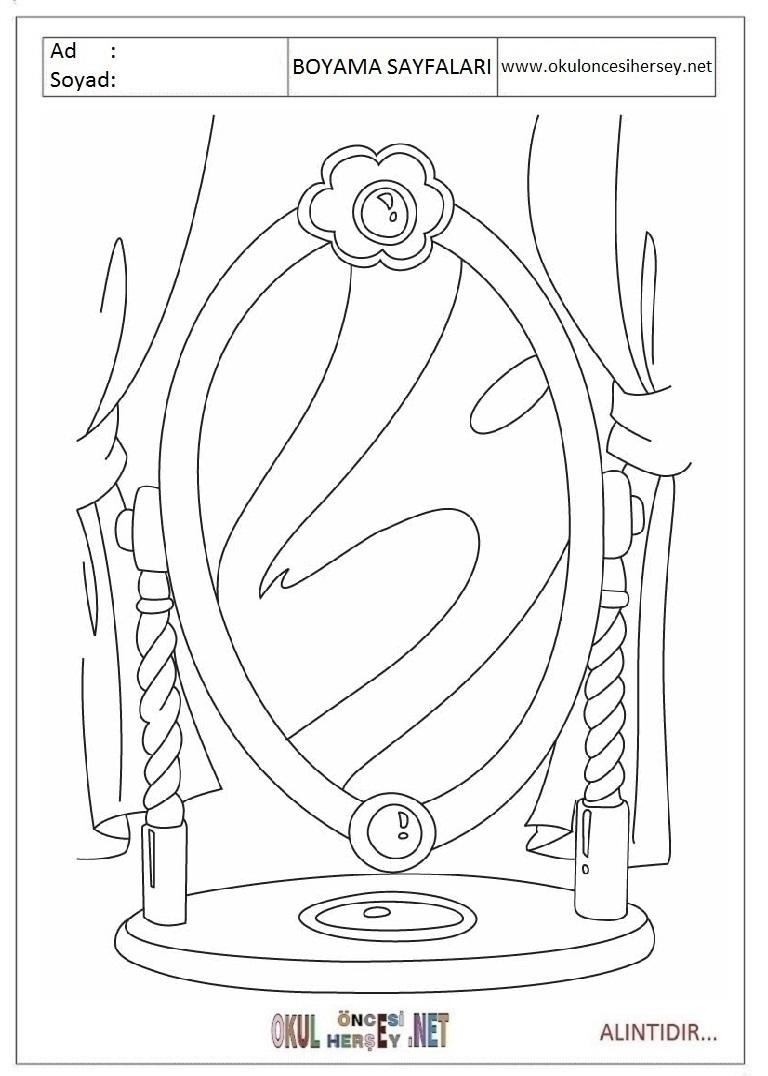 Ayna Boyama Sayfalari