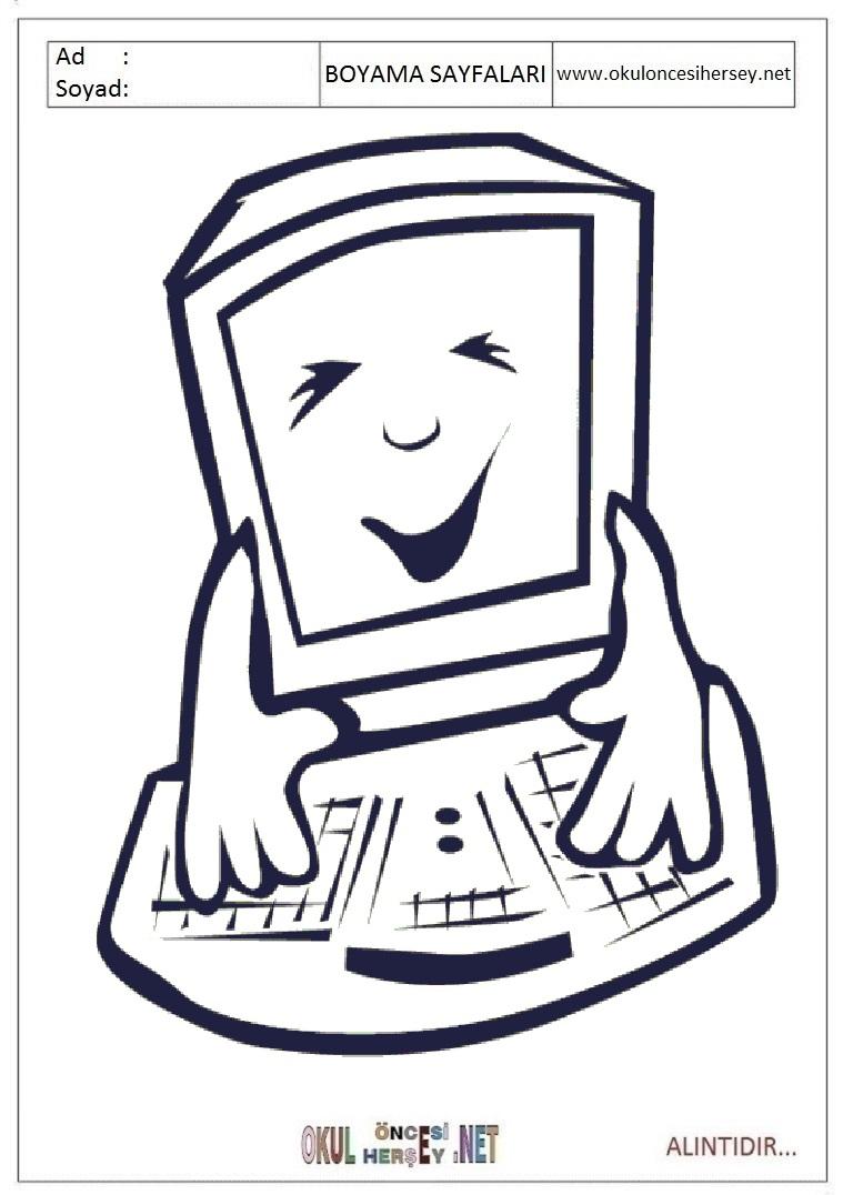 Bilgisayar Boyama Sayfalari