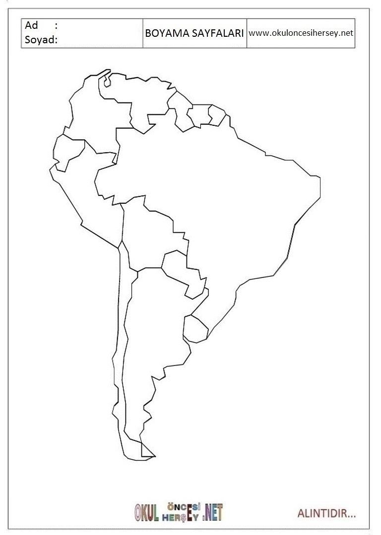 Harita Boyama Sayfalari