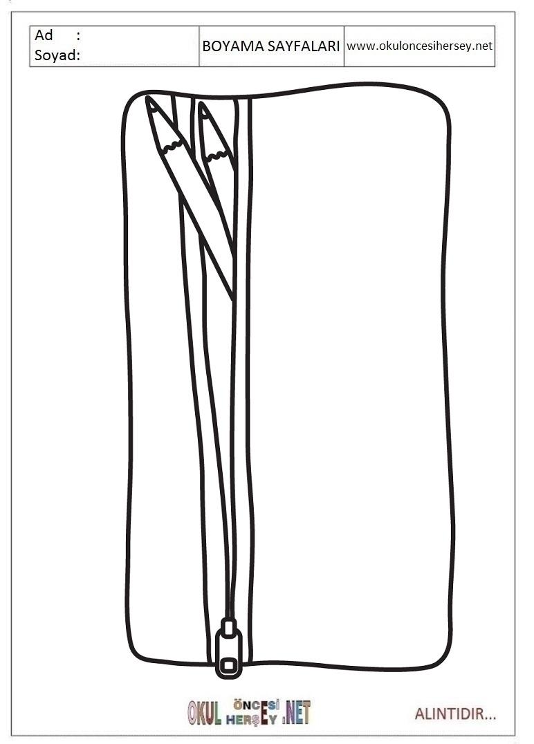Kalem Kutusu Boyama Sayfalari