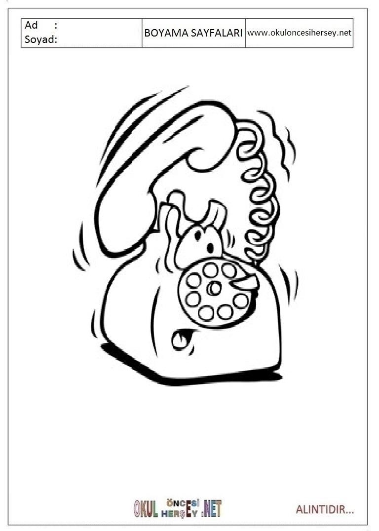 Telefon Boyama Sayfalari