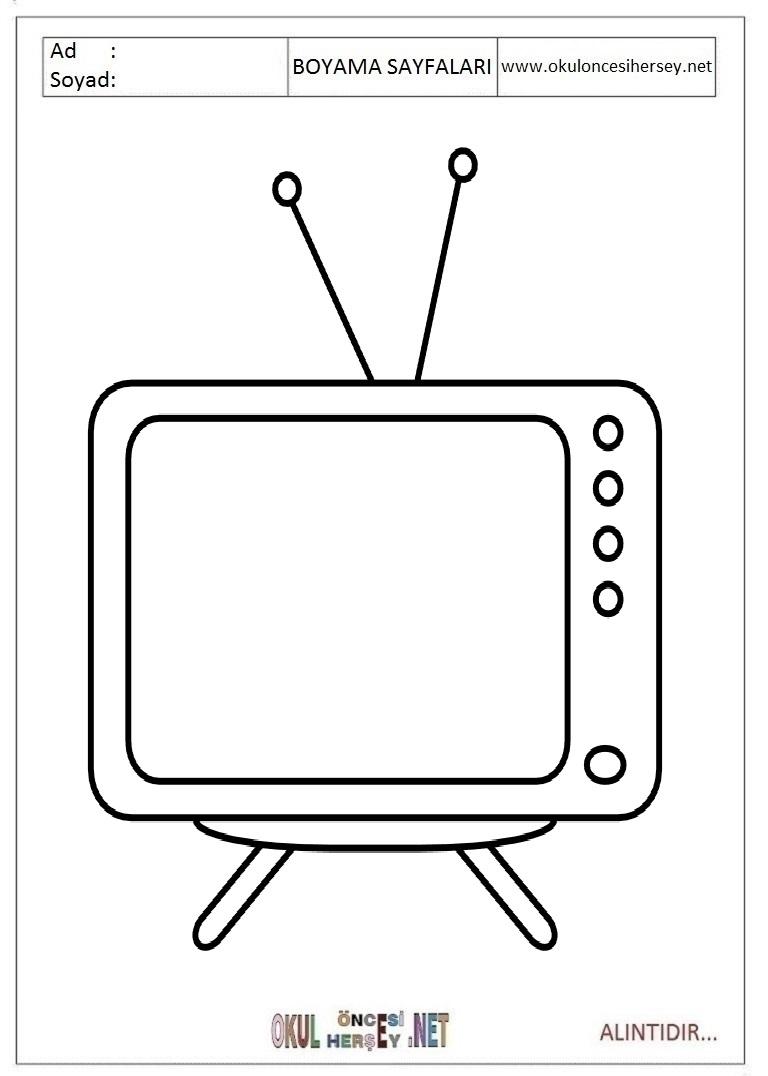 Tv Boyama Sayfalari