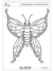 Kelebek Boyama Sayfalari