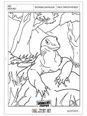 Komodo Ejderi Boyama Sayfaları