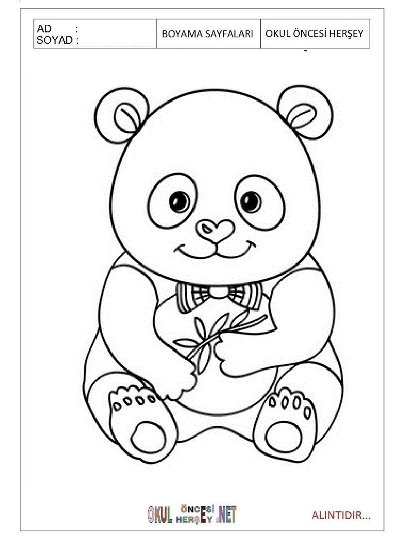 Panda Boyama Sayfalari
