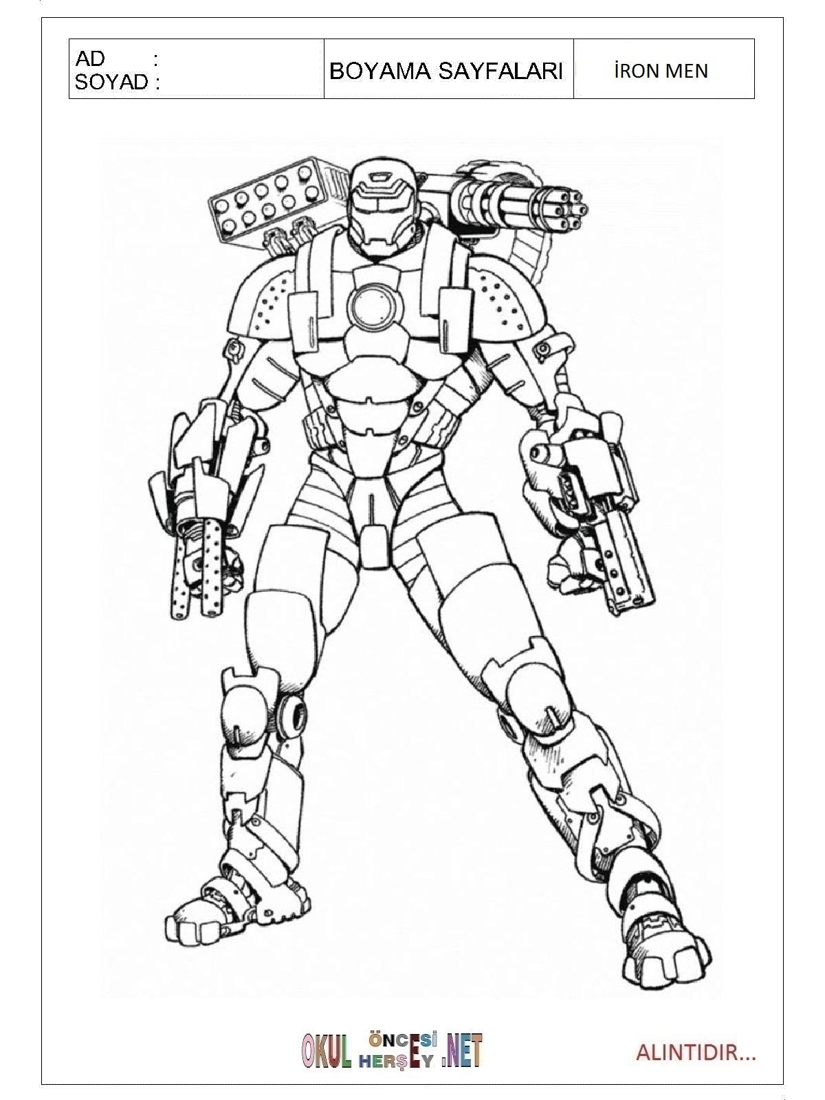 Iron Men Boyama Sayfaları