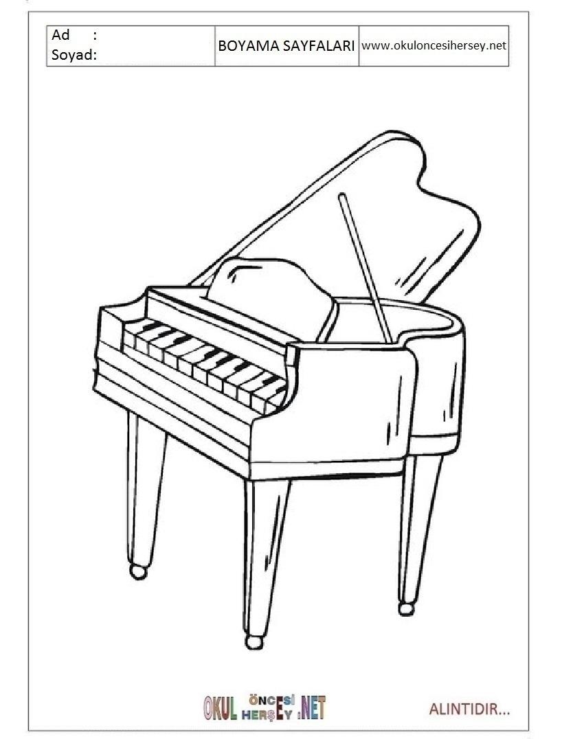 Piano Boyama Sayfalari
