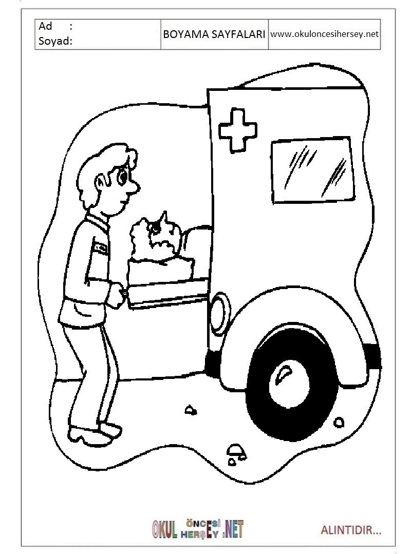 Ambulans Boyama Coloring Pages Boyama Ambulans Boyama 8a8 Co