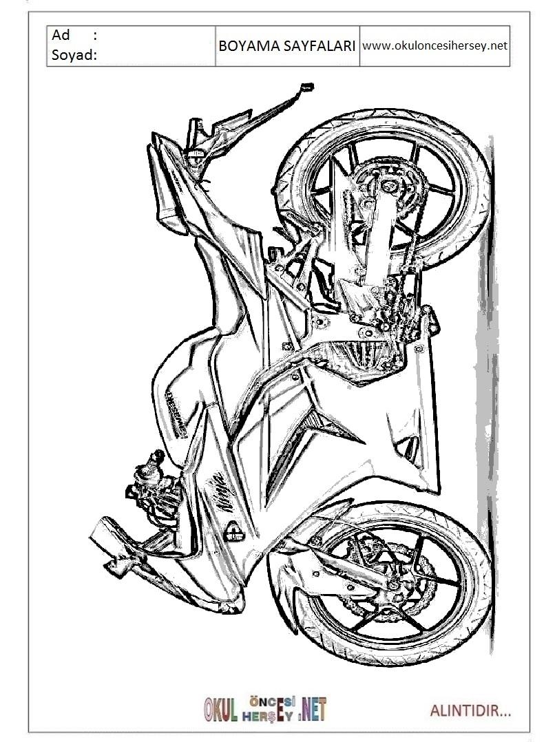 Motor Boyama Sayfaları