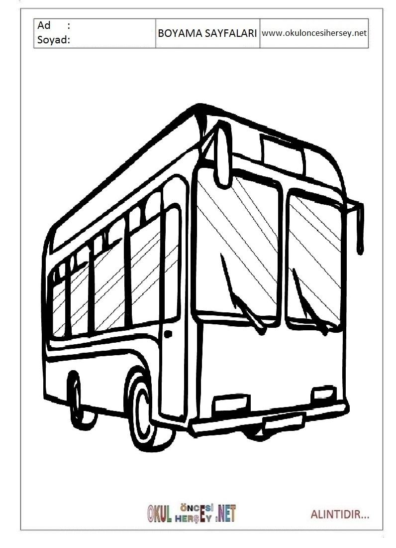 Otobus Boyama Sayfalari