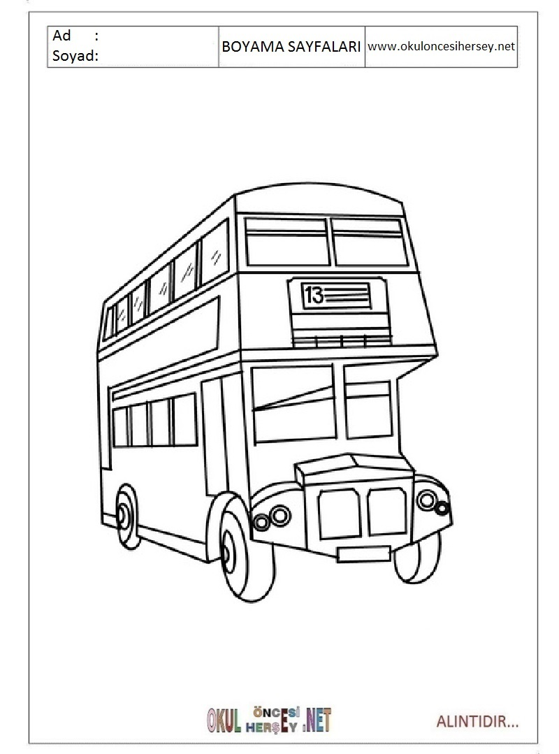 Otobus 2 Tuz Boyama Ciceksepeti