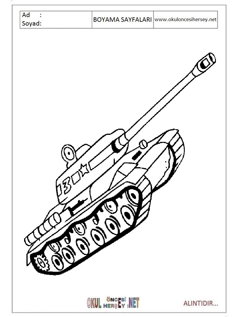 Tank Boyama Sayfalari