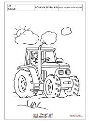 Traktor Boyama Sayfalari