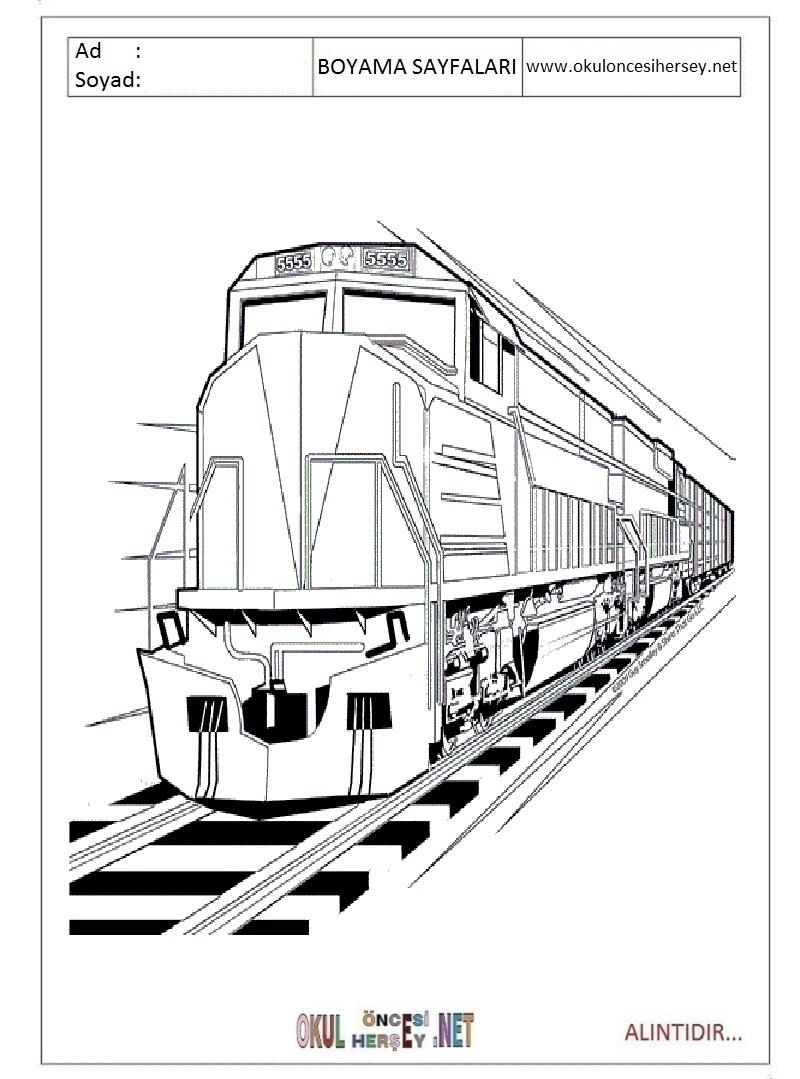 Tren Boyama Sayfalari