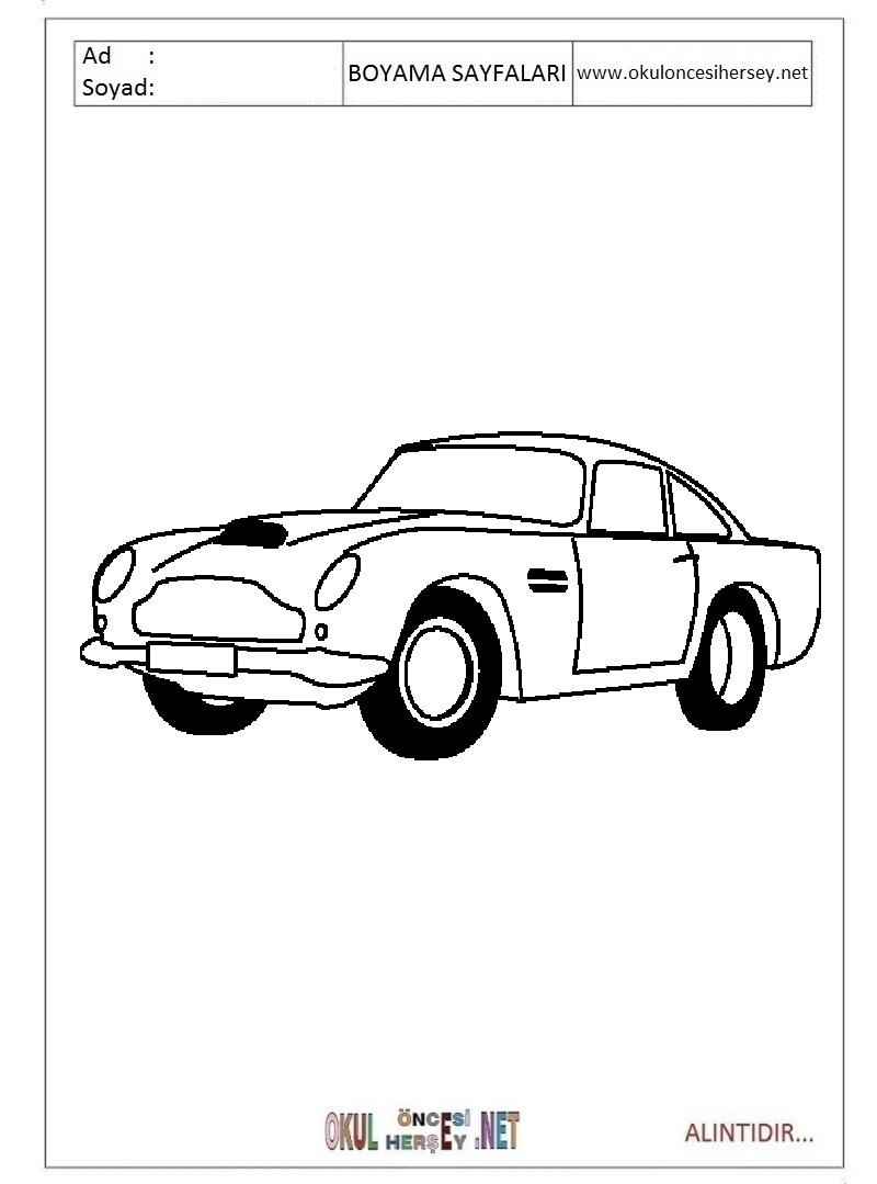 Aston Martin Boyama Sayfalari