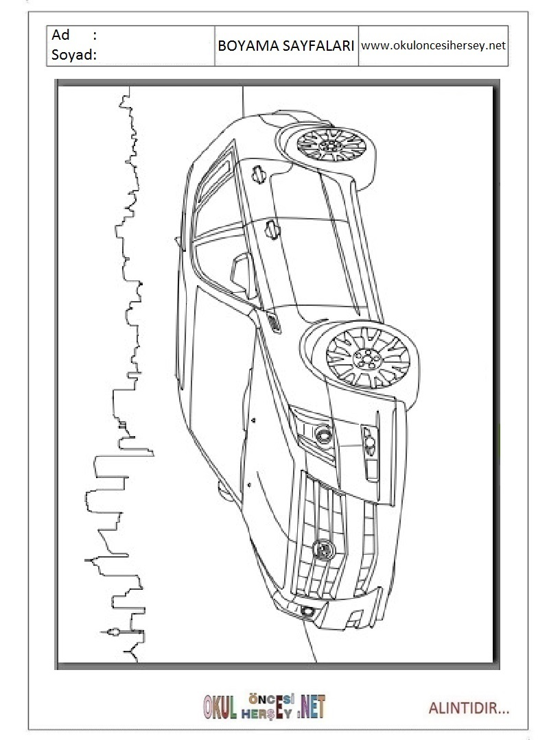 Cadillac Boyama Sayfalari