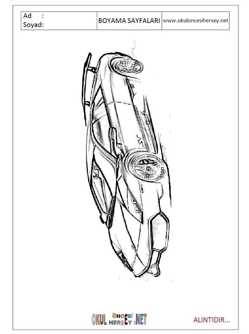 Lamborghini Boyama Sayfalari