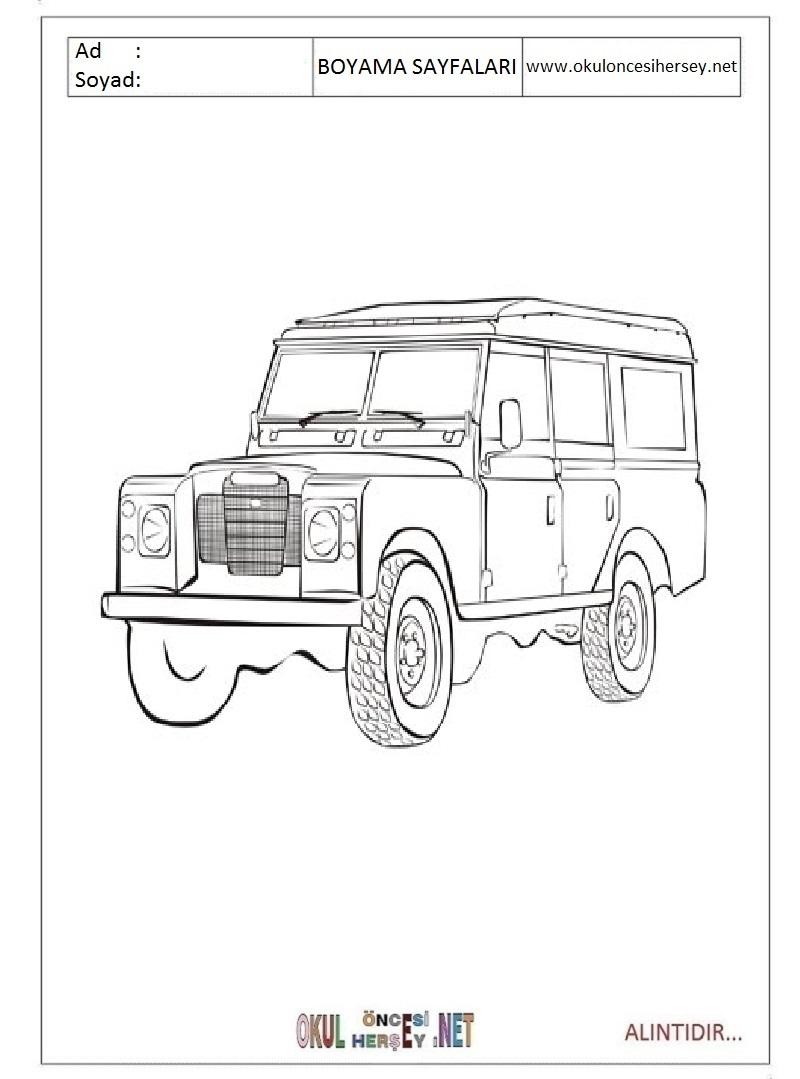 Range Rover Boyama Sayfalari