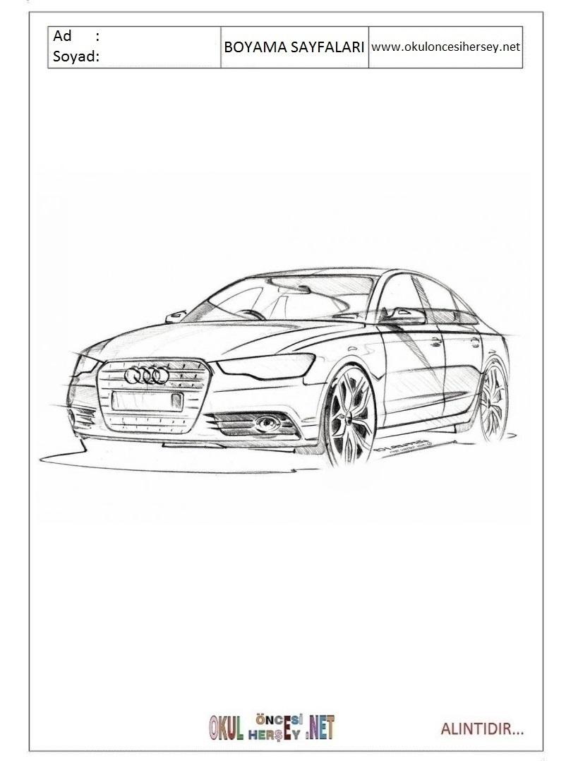 Audi Boyama Sayfalari