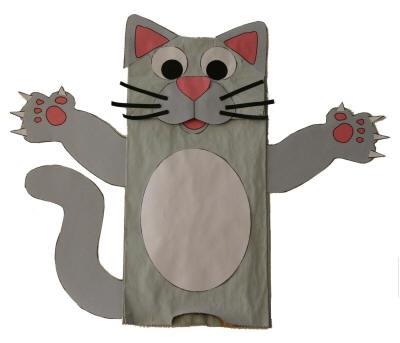 Kese kağıdından kedi kuklası yapımı